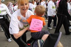 """Indianapolis Race for the Cure Breast Cancer Awareness walk """"The Grandma I never met"""""""