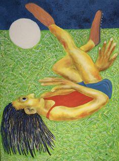 Scissor kick/Maarit Korhonen, acrylic, oilsticks, canvas, 100cm x 73cm Dark Paintings, Original Paintings, Online Painting, Artwork Online, Dancer In The Dark, Scissor Kicks, Tree People, Autumn Painting, Original Art For Sale