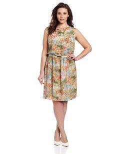 Gabby Skye Women's Plus-Size Fit and Flare Belted Dress, Pale Mint/Coral, 22 Gabby Skye http://www.amazon.com/dp/B00CIUJCBS/ref=cm_sw_r_pi_dp_2VEavb16PB1WC