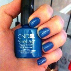 cnd blue rapture #cnd #shellac