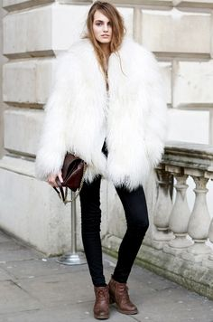 Tip of the Day: The Trick to Pulling Off a Furry Coat via @WhoWhatWear