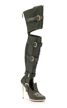 Olive Over-The-Knee Boot Prabal Gurung