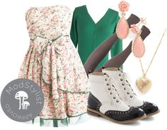 """""""Bouquet Building Dress"""" by modcloth ❤ liked on Polyvore"""
