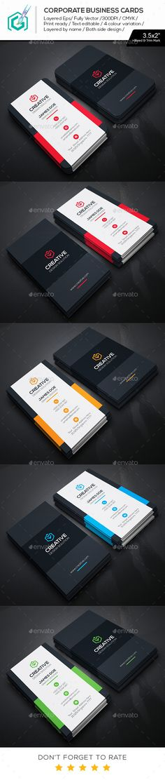 Creative Business Cards Carte De Visite Charte Graphique Identit Visuelle Design D