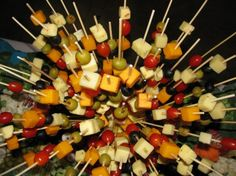Fun variation for cheese and relish tray.