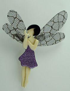 Lea Stein Fairy Pin Brooch