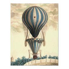 Vintage hot air baloon