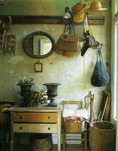 Vignette - antique farm items