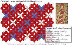 Medieval Arts & Crafts: Brick stitch pattern #2, different colors