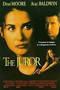 """The Juror (1996) When Annie Laird is selected as a juror in a big Mafia trial, she is forced by someone known as """"The Teacher"""" to persuade the other jurors to vote """"not guilty"""". He threatens to kill her son if she doesn't commit. When the trial is over, he can't let her go..."""