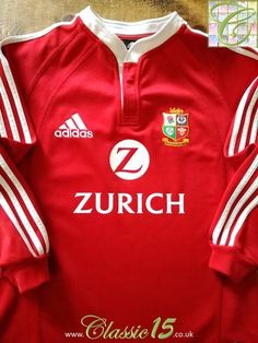 Official Adidas British & Irish Lions home long sleeve rugby shirt from the 2005 test series in New Zealand.