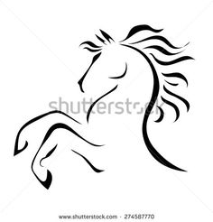 Stock Images similar to ID 93632950 - tribal horse head tattoo ...