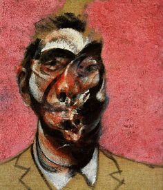 Francis Bacon, Three studies for portrait of George Dyer on pink ground (central panel)