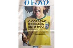 Capa do jornal O Povo, de Fortaleza, onde o Brasil joga logo mais com a Colombia - Blue Bus