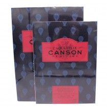 Canson L Aquarelle Heritage Hot Press Pad Glued 300gsm 140lbs In