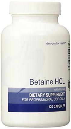 Betaine HCL (with Pepsin) 750 milligrams 120 Caps Designs For Health http://www.amazon.com/dp/B000LVJQJE/ref=cm_sw_r_pi_dp_6wrtwb09QK20T