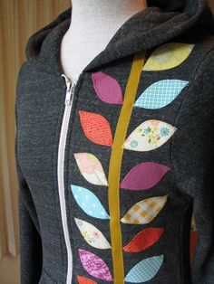 Great way to use scraps to dress up a regular hoodie