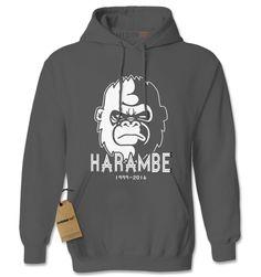 RIP Harambe Cincinnati Zoo Adult Hoodie Sweatshirt