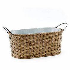 Woven Seagrass Party tub - on sale until August 14.  Shope online by signing in with party code MerryGiesige536903 and have it all shipped to your house.  Celebrating Home   Sensational Summer Sale