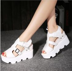 Cheap summer women sandals, Buy Quality platform wedge sandals directly from China wedge sandals Suppliers: 2017 Summer Women Sandals Casual Peep Toe Swing Shoes Ladies Platform Wedges Sandals Walk Woman Sandalias Zapatos Slingback Fashion Sandals, Women's Shoes Sandals, Wedge Sandals, Gladiator Sandals, Trendy Shoes, Cute Shoes, Casual Shoes, Shoes Style, Summer Shoes