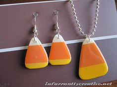 How to Make Candy Corn Earrings from Beckie at Infarrantly Creative