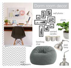 """Dorm room decor"" by anamarija00 ❤ liked on Polyvore featuring interior, interiors, interior design, home, home decor, interior decorating, Urban Outfitters, Comfort Research, Illume and grey"