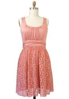 Pink Lovely in Lace Dress: Plus Size