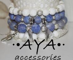 "A set of bracelets "" Silver Wings"" by AYASHOP for $56.00"