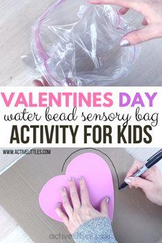 Valentines Day Sensory Play Kids Activity - Active Littles Sensory Activities, Infant Activities, Sensory Play, Kindergarten Activities, Activities For Kids, Valentines Day Crafts For Preschoolers, Valentines Day Activities, Valentines For Kids, Valentine Sensory