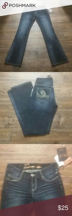 Seven7 boot cut dark washed jeans size 5/27 Seven7 boot cut dark washed jeans size 5/27 Seven7 Jeans Boot Cut