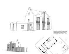 Klassieke en statige woning met moderne details   Hattem Floor Plans, Diagram, Houses, Modern, Homes, Trendy Tree, House Floor Plans, Home, Floor Plan Drawing