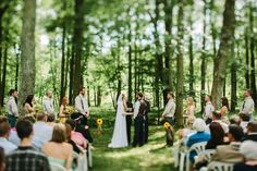 Tons of ideas for a wedding in the woods