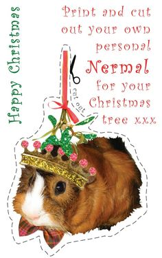 printable guinea pig ornament