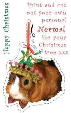 printable guinea pig ornament