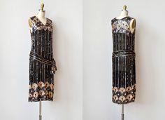 vintage 1920s dress / 1920s flapper dress / vintage 20s sequined dress / flapper 20s dress. $528.00, via Etsy.
