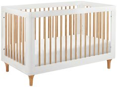 Delight in the playful joy of the Lolly 3-in-1 Convertible Crib! With natural spindles, gently curved corners, and delicate natural feet, the Lolly is a clever