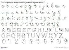 Des référents A4 avec les modèles d'écriture (cursives minuscules et majuscules, capitales et chiffres) à plastifier, pour s'entrainer à écrire.