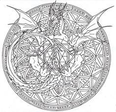 Uil Mandala Kleurplaat