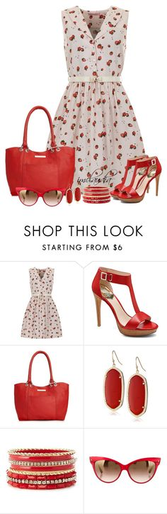 """""""Strawberry Sundress"""" by imclaudia-1 ❤ liked on Polyvore featuring Trollied Dolly, Vince Camuto, Marc New York, Kendra Scott, Charlotte Russe and Christian Dior"""