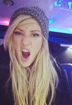 Ellie Goulding being silly.