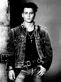 I like the whole tough look  on johnny depp cuz with them cheekbones and when he does it it is so ironic cuz it is so sexy