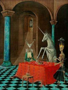 light color sound: unicorn skin ( art / painting /  mythical )