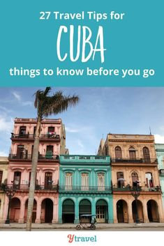 Is Cuba on your travel bucket list? Here are 27 things to know about Cuba before you plan to visit Cuba in Central America. Info on flights (more options than Havana!), where to stay, visa rules, travel from the USA, hotels and where to stay, tips around money and currency, and more as you plan your itinerary.  This is one of the most beautiful places full of things to do, culture, history and great people.  #travel #Cuba #familytravel #solotravel #caribbean #vacation