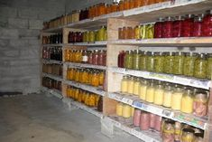Looks like my Mom's canning cellar with lots of canned food.and lots of the same thing like string beans, corn, beets, peaches, etc. Canning Tips, Home Canning, Canning Recipes, Canning Food Preservation, Preserving Food, Canned Food Storage, Pressure Canning, Blood Pressure, Amish Country