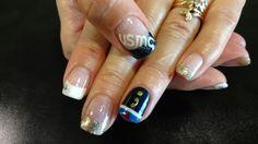 USMC french nail art