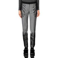 Alberta Ferretti Pant ($595) ❤ liked on Polyvore featuring pants, pant, skirts & pants, steel grey, zipper pants, zip pants, alberta ferretti pants, alberta ferretti and brocade pants