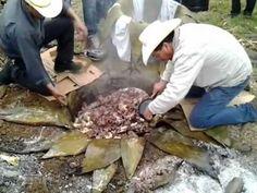 Traditional barbacoa preparation pedro maya 03 en barrio sur de carpinteros hidalgo. - YouTube