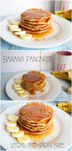 Vegan, sugar free, and gluten free pancakes that are fluffy, sweet, and so delicious!