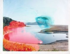 matthew brandt - each print is soaked in the specific lake or reservoir water that they represent