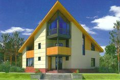 modern house designs with triangular elements